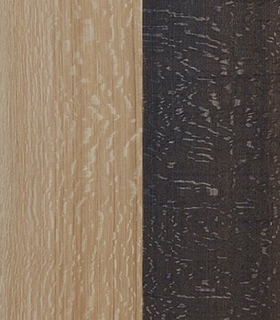 Comparison of fumed Flakey Oak vs. natural Flakey Oak